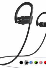 LETSCOM Bluetooth Headphone IPX7 Waterproof Noise Canceling Black/Gray