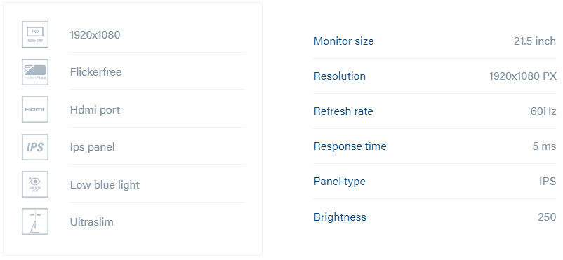 Monitor Specifications