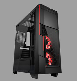AZZA AZZA Gaming Case MID ATX Crimson LED Fan 211G