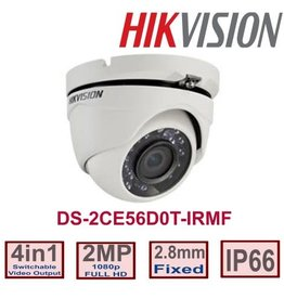 Hikvision Hikvision DS-2CE56D0T-IRMF 2.8mm 1080p 4 in 1 2MP Metal Turret Camera