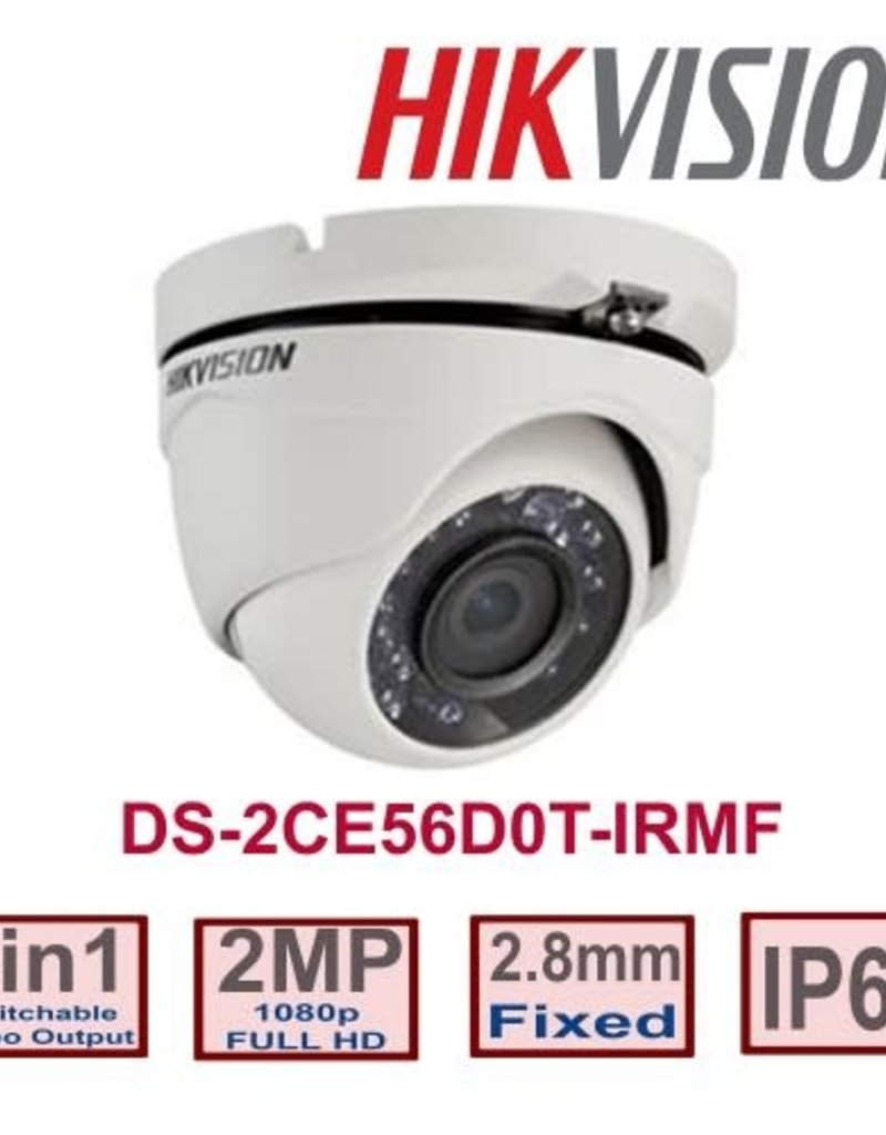 Hikvision Hikvision DS-2CE56D0T-IRMF 2.8mm 1080p 4 in 1 2MP Metal Turret Camera