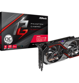 Asrock ASROCK Radeon RX 5500 XT Phantom Gaming OC Video Card 8GB ARGB LED's
