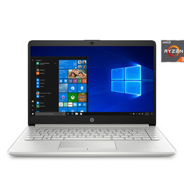 "HP HP 14-DK1022 AMD Ryzen™ 3 3250U 2.6GHz 128GB SSD 4GB 14"" (1366x768) BT WIN10 Webcam NATURAL SILVER. 1 Year Warranty, Retail Box, New Factory Sealed"