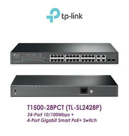 TP-Link TP-Link JetStream 24-Port 10/100Mbps + 4 Port Gigabit Uplink + 2 SFP Smart POE+ Switch TL-SL2428P