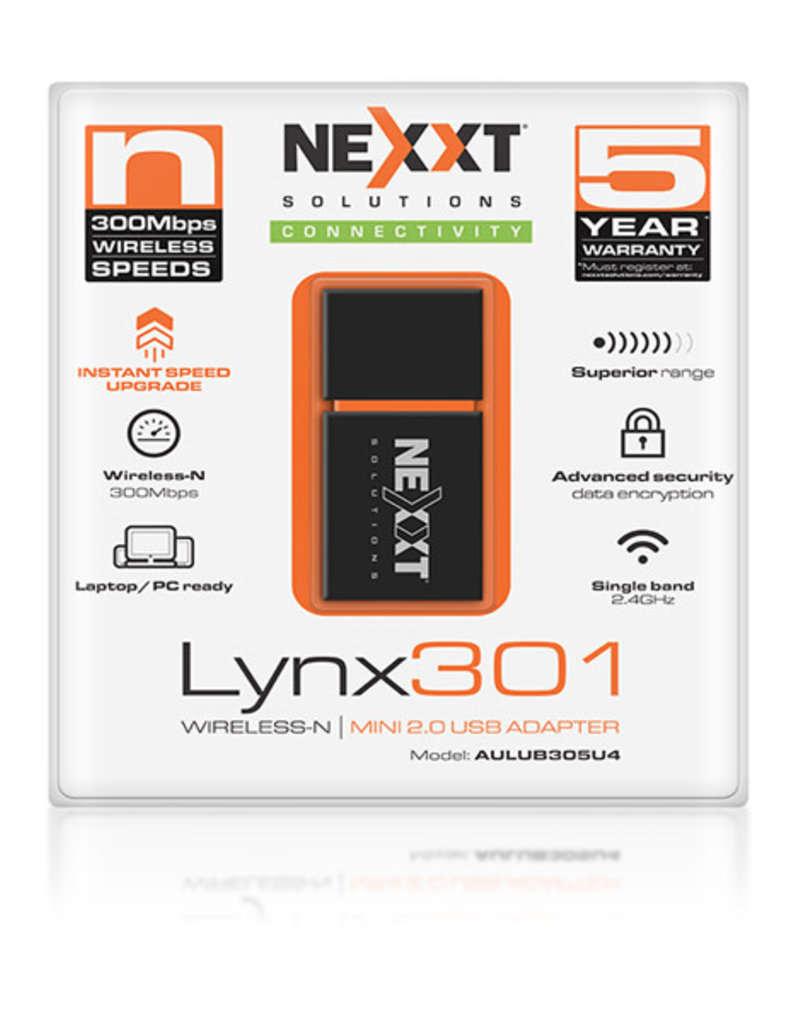 Nexxt Nexxt Lynx301 USB Wireless Adapter 300Mbps AULUB305U4