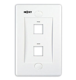 Nexxt Nexxt Wall Plate 2 Port White AW160NXT02