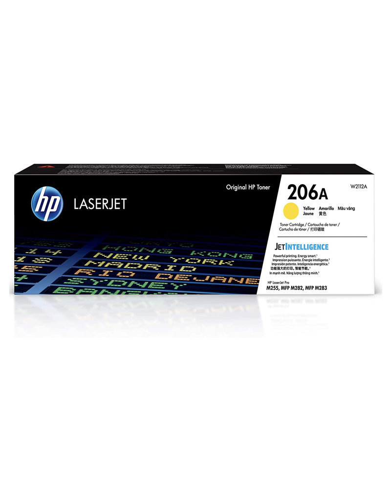 HP HP 206A Yellow LaserJet Toner Cartridge W2112A