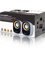 Argom Argom EKO Stereo Speaker 2.0 USB Connection White/Black/Yellow ARG-SP-1020