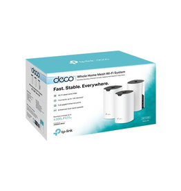 TP-Link TP-Link Deco Mesh WiFi System (Deco S4) – Up to 5,500 Sq.ft. Coverage, WiFi Router andExtender Replacement, Gigabit Ports,Seamless Roaming, Parental Controls, Works with Alexa, 3-pack