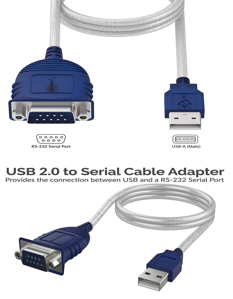 Sabrent Sabrent USB 2.0 to Serial (9-Pin) DB-9 RS-232 Converter Cable, Prolific Chipset, - HEXNUTS- , [Windows 10/8.1/8/7/VISTA/XP, Mac OS X 10.6 and Above] 2.5 Feet (CB-DB9P)