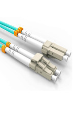 Fiber Patch Cable, VANDESAIL 10G Gigabit Fiber Optic Cables with LC to LC Multimode OM3Duplex 50/125 OFNP 25 Meters