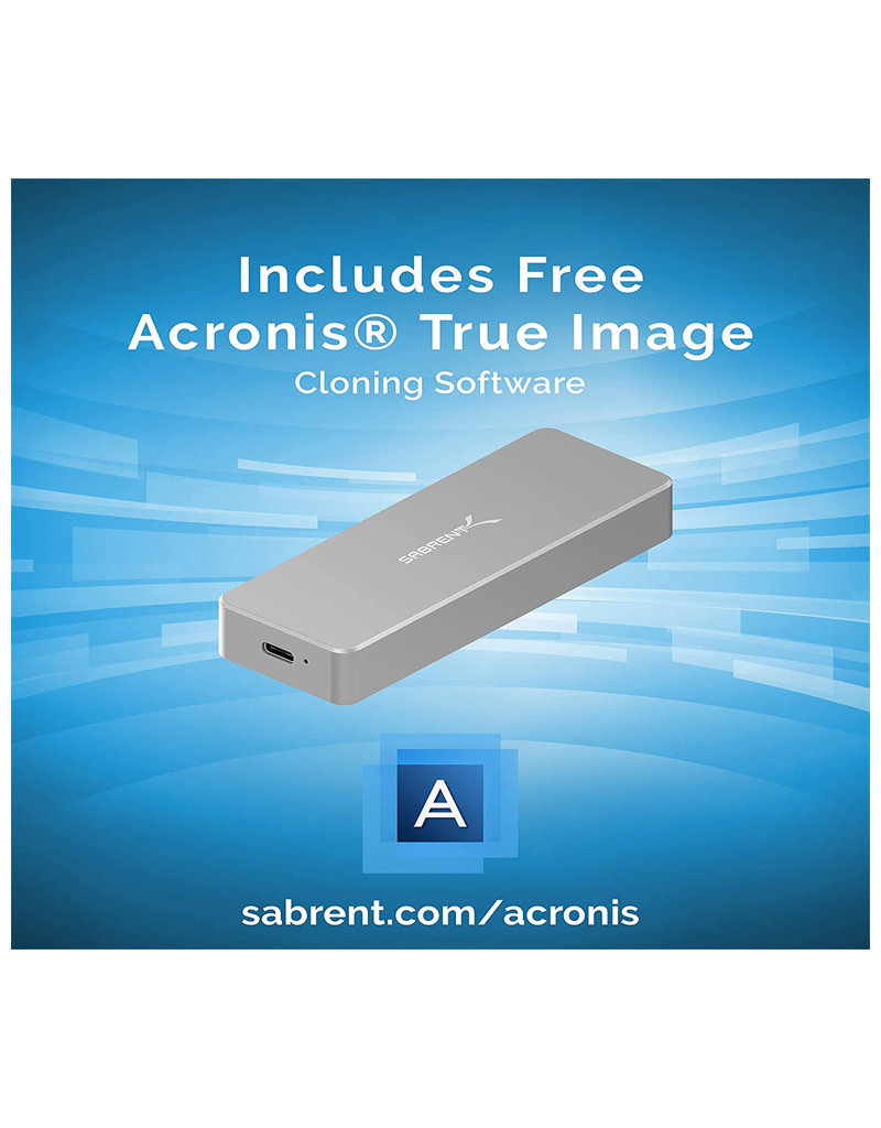 Sabrent Sabrent M.2 SSD to Type C USB 3.2 Hard Drive Enclosure EC-TFNE