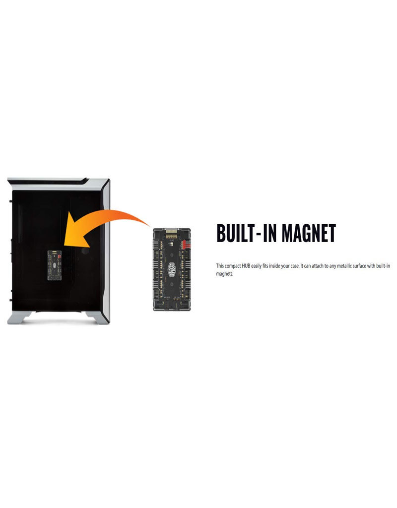 Cooler Master MASTERFAN ARGB/PWM Hub,6 Ports for Addressable RGB Lighting with PWM(1-to-6 ARGB PWM HUB) 3 Months Warranty