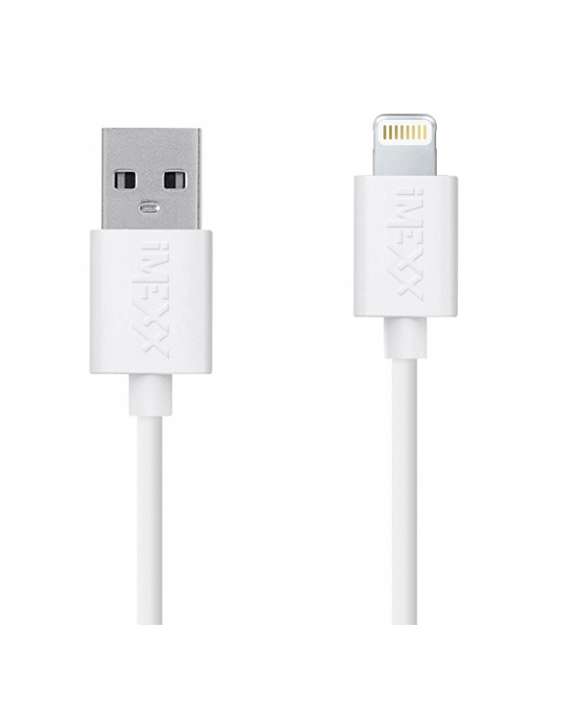 IMEXX IMEXX CABLES - USB - LIGHTNING APPLE ,CHARGING WHITE 1MT IME-41423