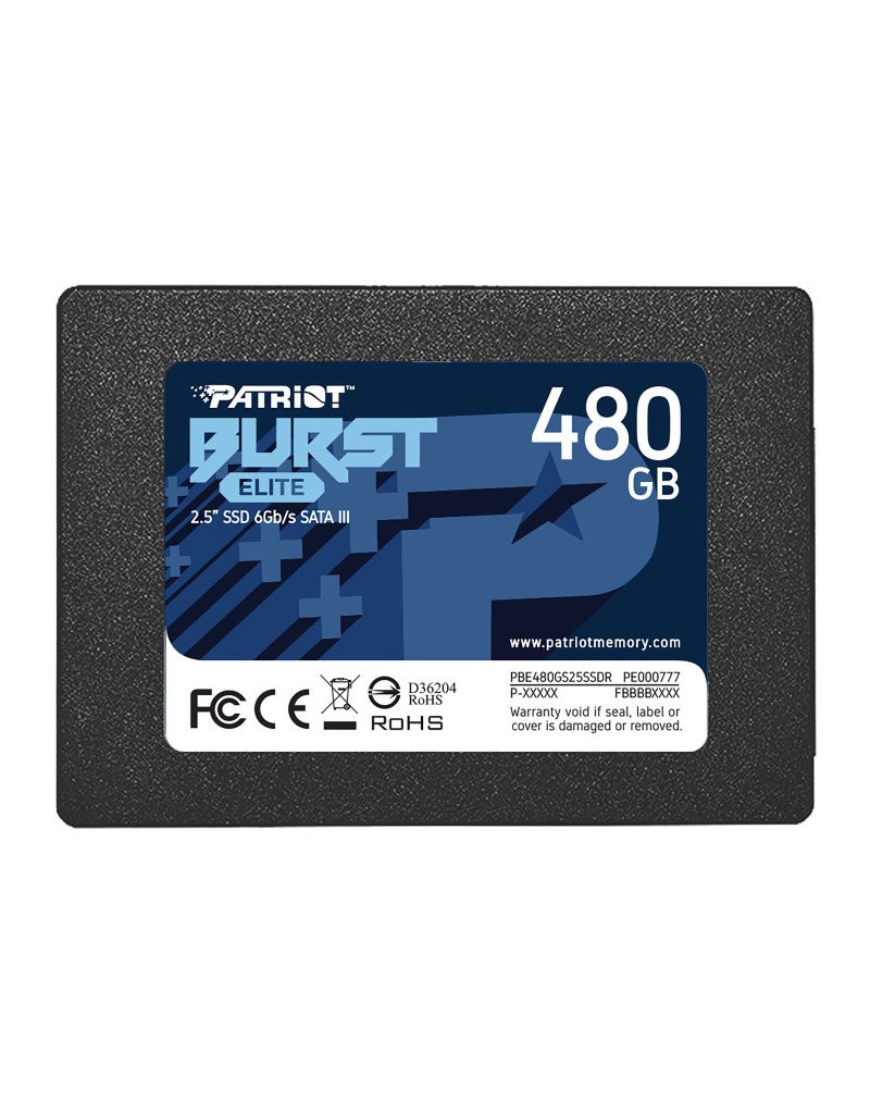 PATRIOT Patriot Burst Elite 480GB SATA3 2.5 SSD PBE480GS25SSDR