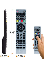 GE Universal Remote Control for Samsung, Vizio, LG, Sony, Sharp, Roku, Apple TV, TCL,Panasonic, Smart TVs, Streaming Players, Blu-ray, DVD, 4-Device, Silver, 33709