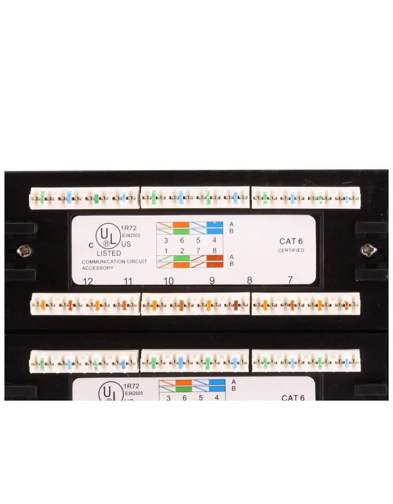 "Monoprice 48 Port CAT 6 Patch Panel 19"" Rackmount MP-C6U8BBH48"