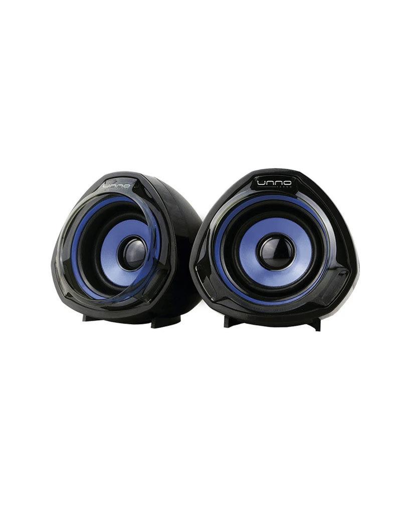 UNNO UNNO Tekno Thunder USB Desktop Speakers Black/Blue SP9023BL