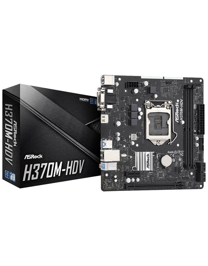 Asrock Asrock H370M-HDV 9th Gen LGA 1151 Motherboard