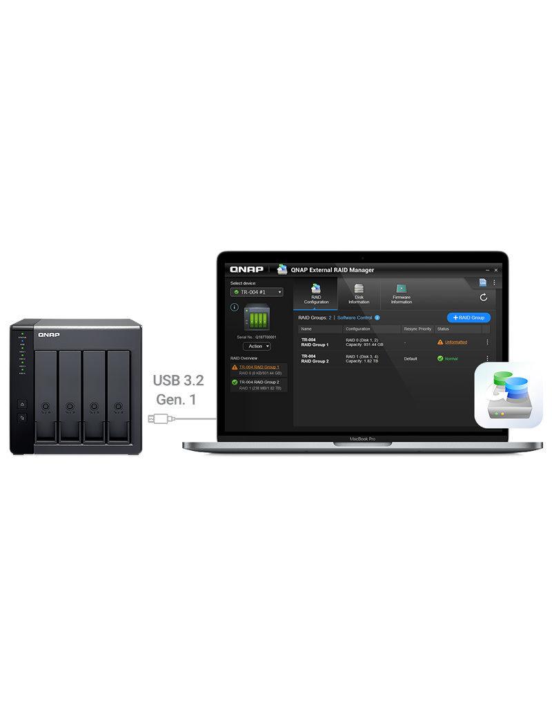 QNAP QNAP 4 Bay USB Type C Direct Attached Storage TR-004