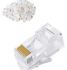 IMEXX Imexx CAT6 RJ-45 3 Prong Gold IME-10146 Pack of 100