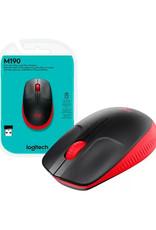Logitech Logitech M190 Full-size Wireless Mouse Red & Black 910-005904