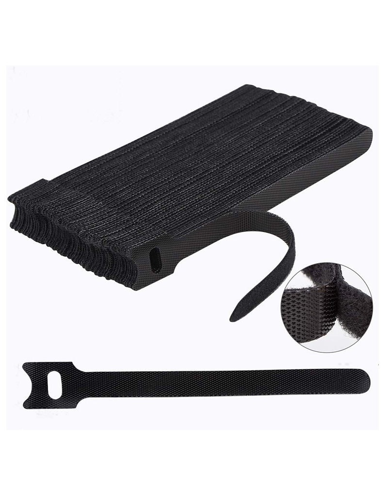 60PCS Reusable Fastening Cable Ties, 6-Inch Cable Straps Cable Management
