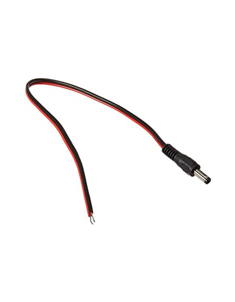Male Pigtail Wire Black & Red