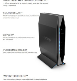Linksys Linksys Dual Band Router AX1800 E7350 WiFi6