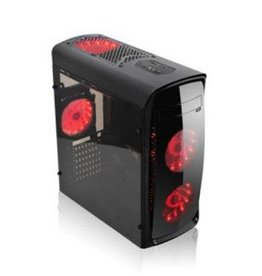 Agiler Agiler Gamer ATX Case Clear AGI-C008 Transparent Side RED USB 3.0
