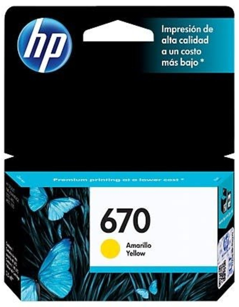 HP HP 670 Yellow CZ116AL