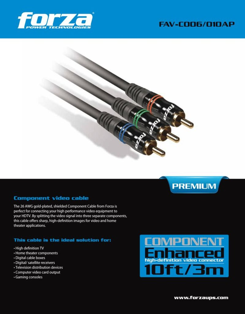 Forza Forza 6FT Component Cable FAV-C006AP