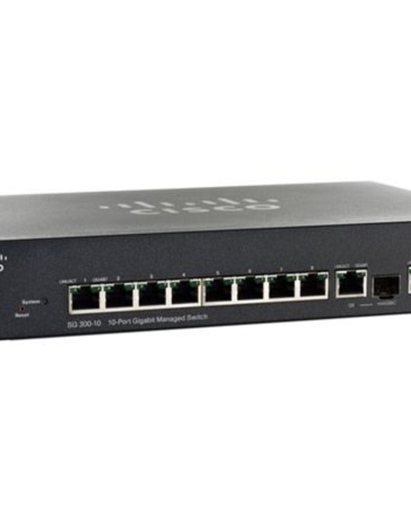Cisco Cisco 10Port GIG Switch SG300 SG300-10 SRW2008-K9-NA