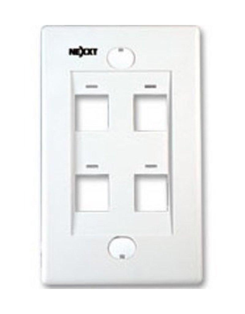 Nexxt Nexxt 4 Port Wall Plate