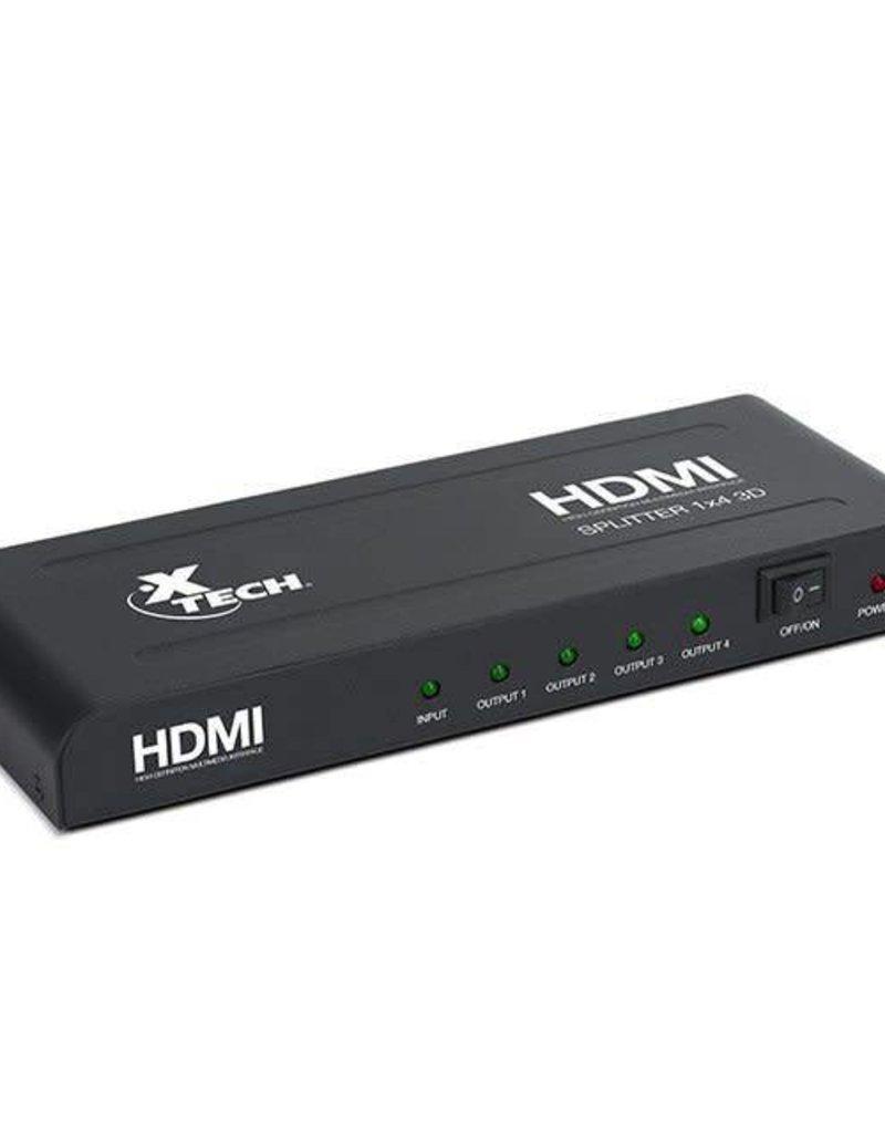 Xtech Xtech HDMI Splitter 1X4 3D Adapter XHA 410