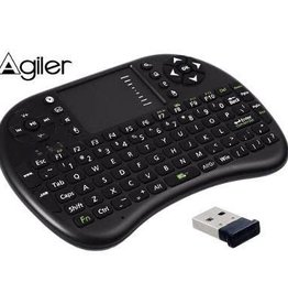 Agiler Agiler Wireless Mini KeyBoard with Touch Pad AGI-9836