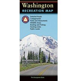 Benchmark Maps Washington Recreation Map