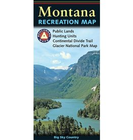 Benchmark Maps Montana Recreation Map