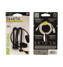 Nite Ize, Inc. Gear Tie® Reusable Rubber Twist Tie™ 6 in. - 2 Pack - Black