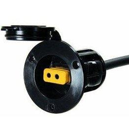 Cannon (Minn Kota) Flush Mount Power Port (Black)