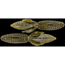 "Reaction SMB-033 Smallie Beaver Creature Bait, 3 1/2"", Green Goby"