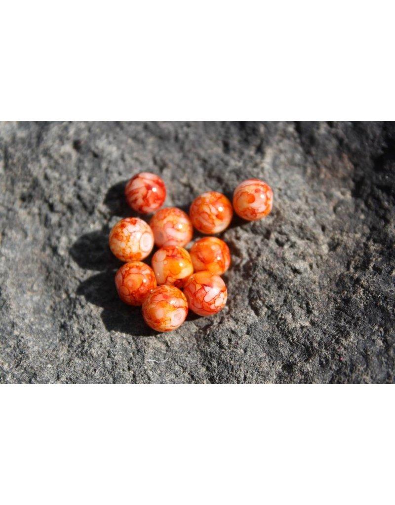Hevi Beads Bead, 8mm, Blood Egg Orange, 15/Bag