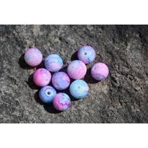 UV Bead, 10mm Pink Creamed Roe, 15/Bag