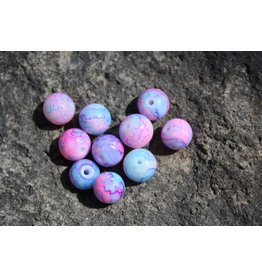 Hevi Beads UV Bead, 10mm Pink Creamed Roe, 15/Bag