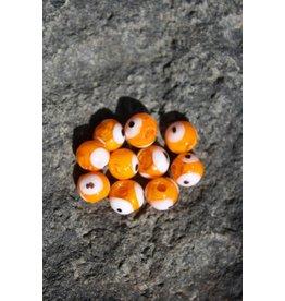 Hevi Beads UV Bead, 10mm Fish Eye Orange, 10/Bag