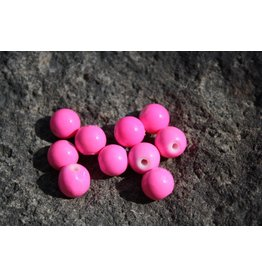 Hevi Beads UV Bead, 10mm Double Bubble Pink, 15/Bag