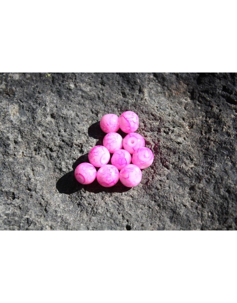 Hevi Beads Hevi-Beads 6mm Blood Vein Pink