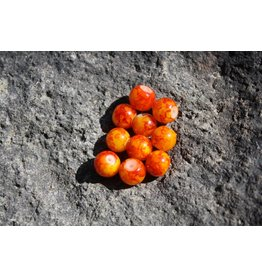 Hevi Beads Bead, 10mm, Blood Vein Orange, 15/Pack