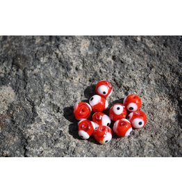 Hevi Beads UV Bead, 10mm Fish Eye Red, 10/Bag