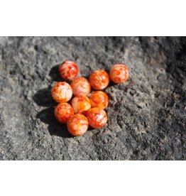 Hevi Beads Bead, 10mm, Blood Egg Orange, 15/Bag